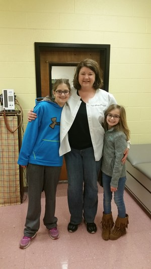 Nurse Angie With Student Reporters