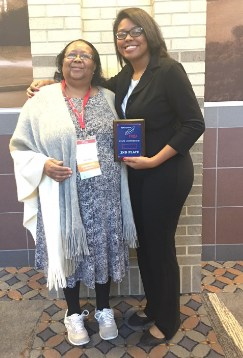 FBLA award winner with sponsor Mrs. Kirby