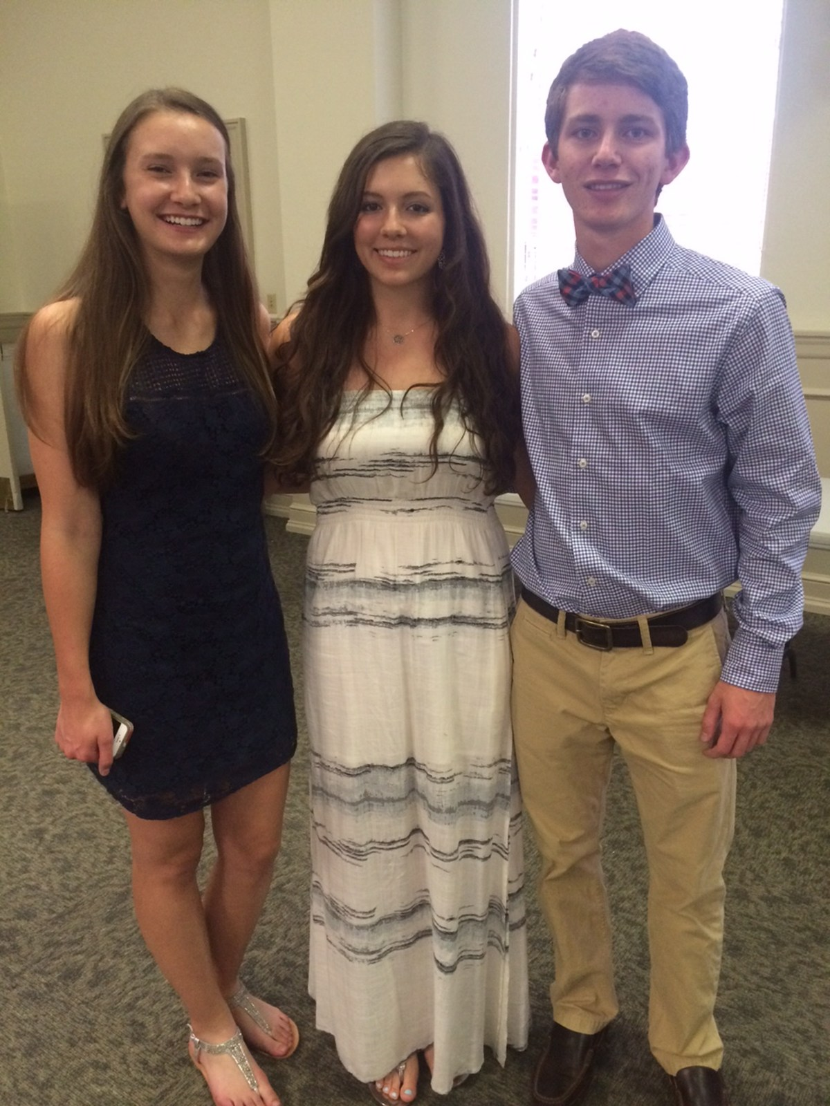Tennis players at banquet