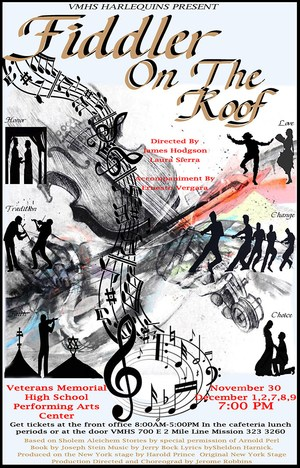 Performance poster for Fiddler on the Roof