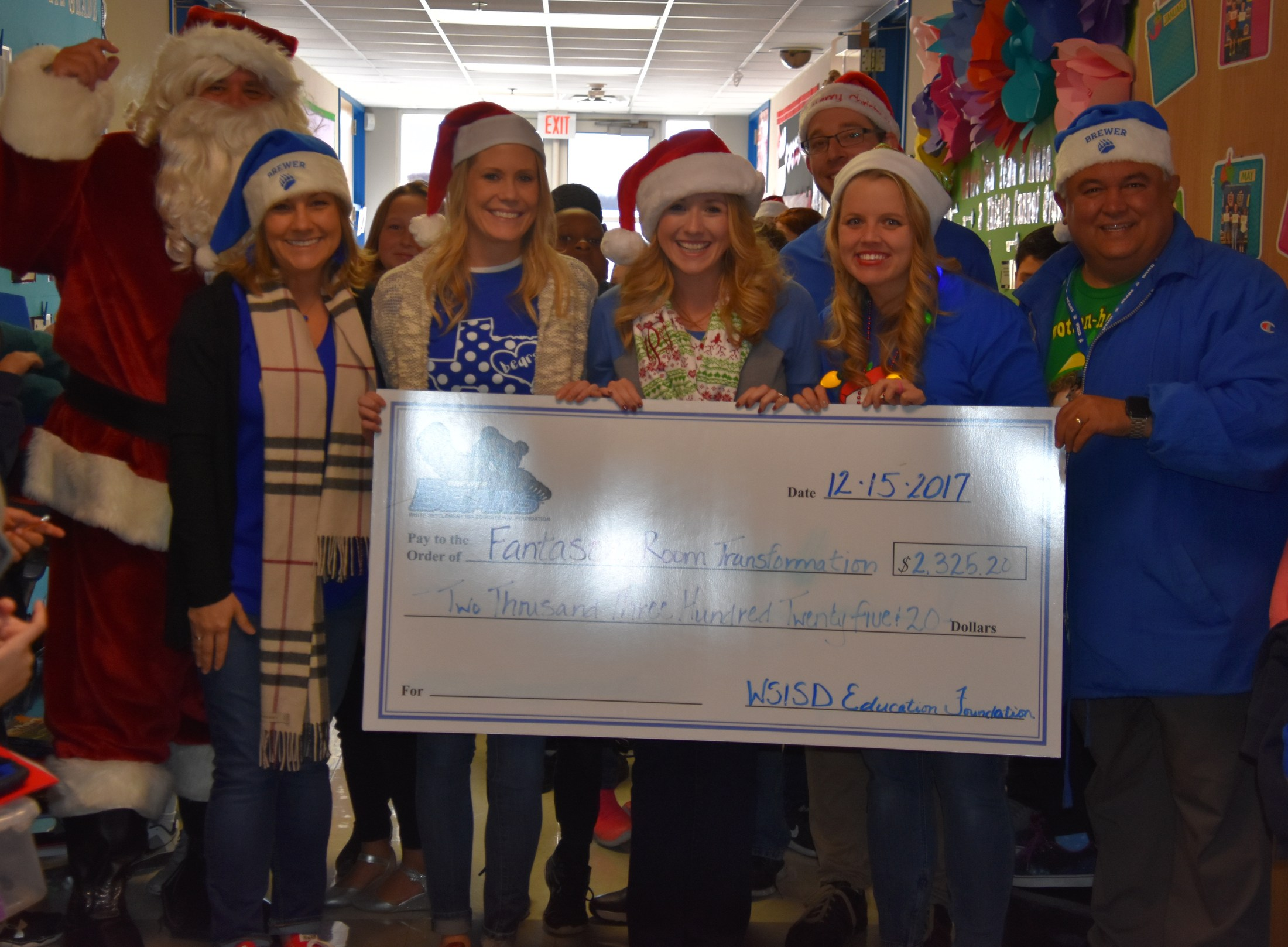 Blue Haze Elementary teachers Alden Gideon, Maegan Perryman and Lindsey Vinson received a $2325.20 grant for Fantastic Room Transformations.