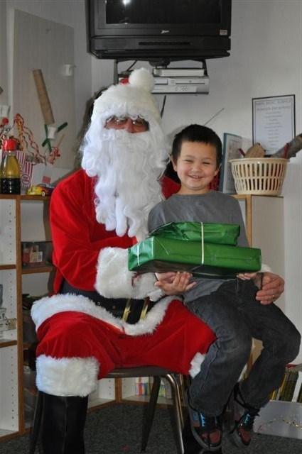 child and santa