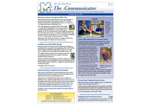Front page of  Mars Area School District's weekly electronic newsletter