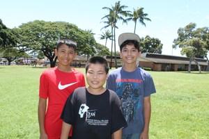 Isaiah, Keenan, Caleb