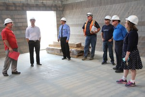 District leaders & School Board members take WSSDA Executive Director Tim Garchow on a tour of the Simcoe Elementary School build
