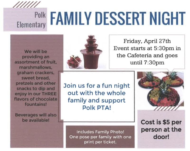 Family Dessert Night Flyer