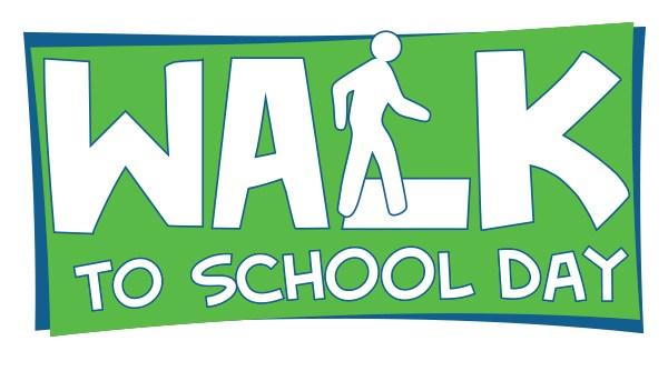 Walk to school day logo text