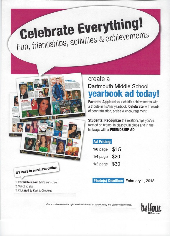 Yearbook dedication advertisements