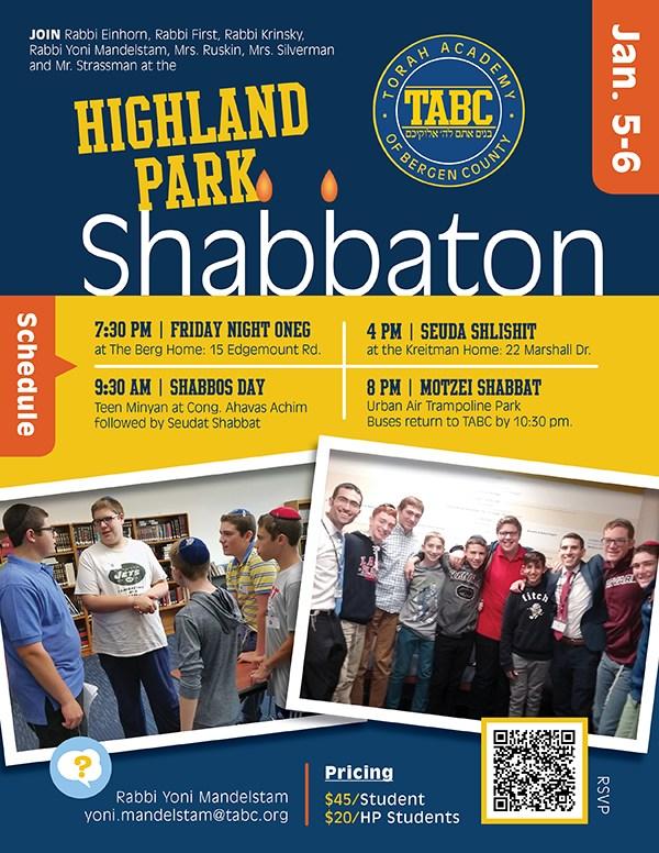 Please Join Us for Highland Park Shabbaton Thumbnail Image