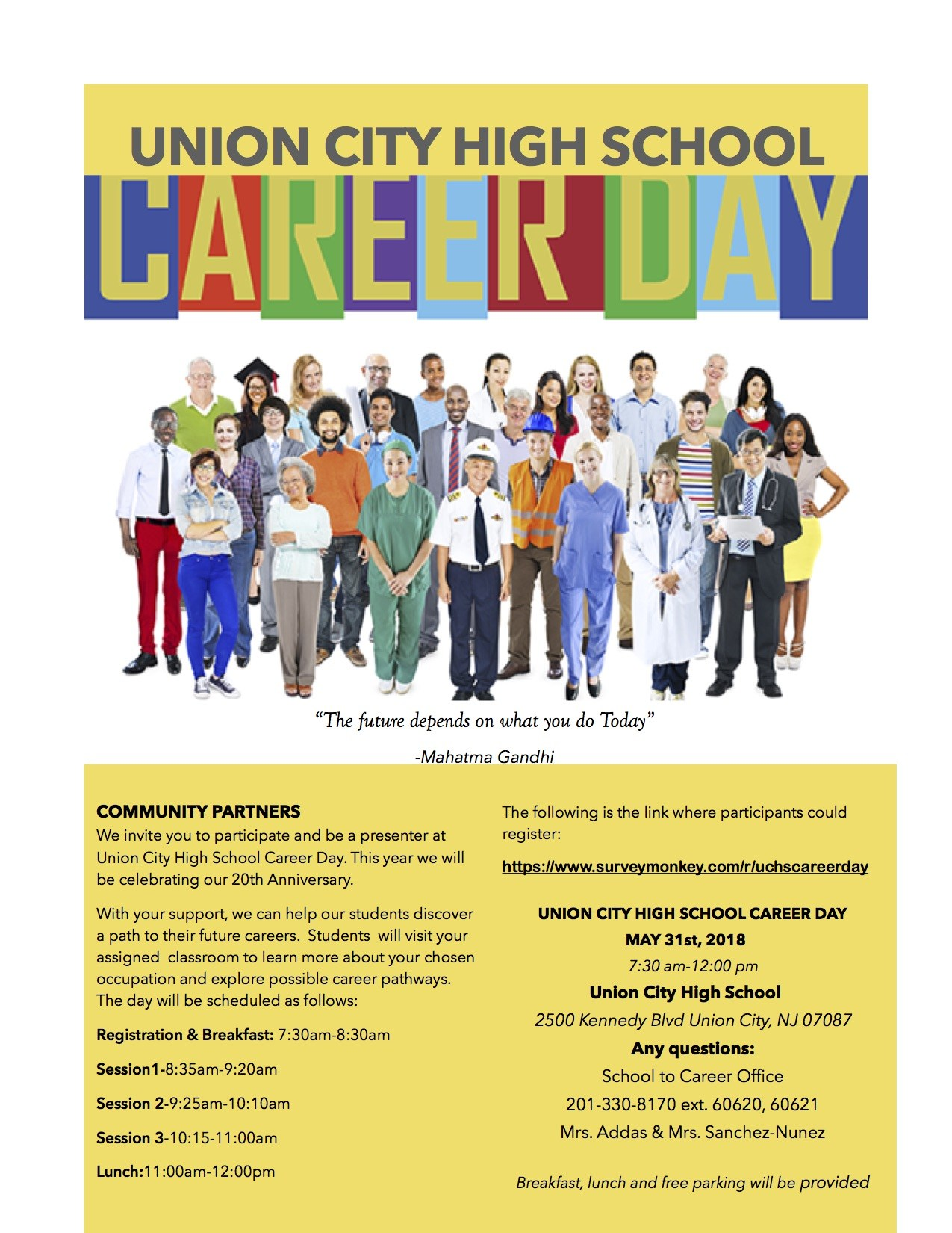 Career Day Invitation Flyer