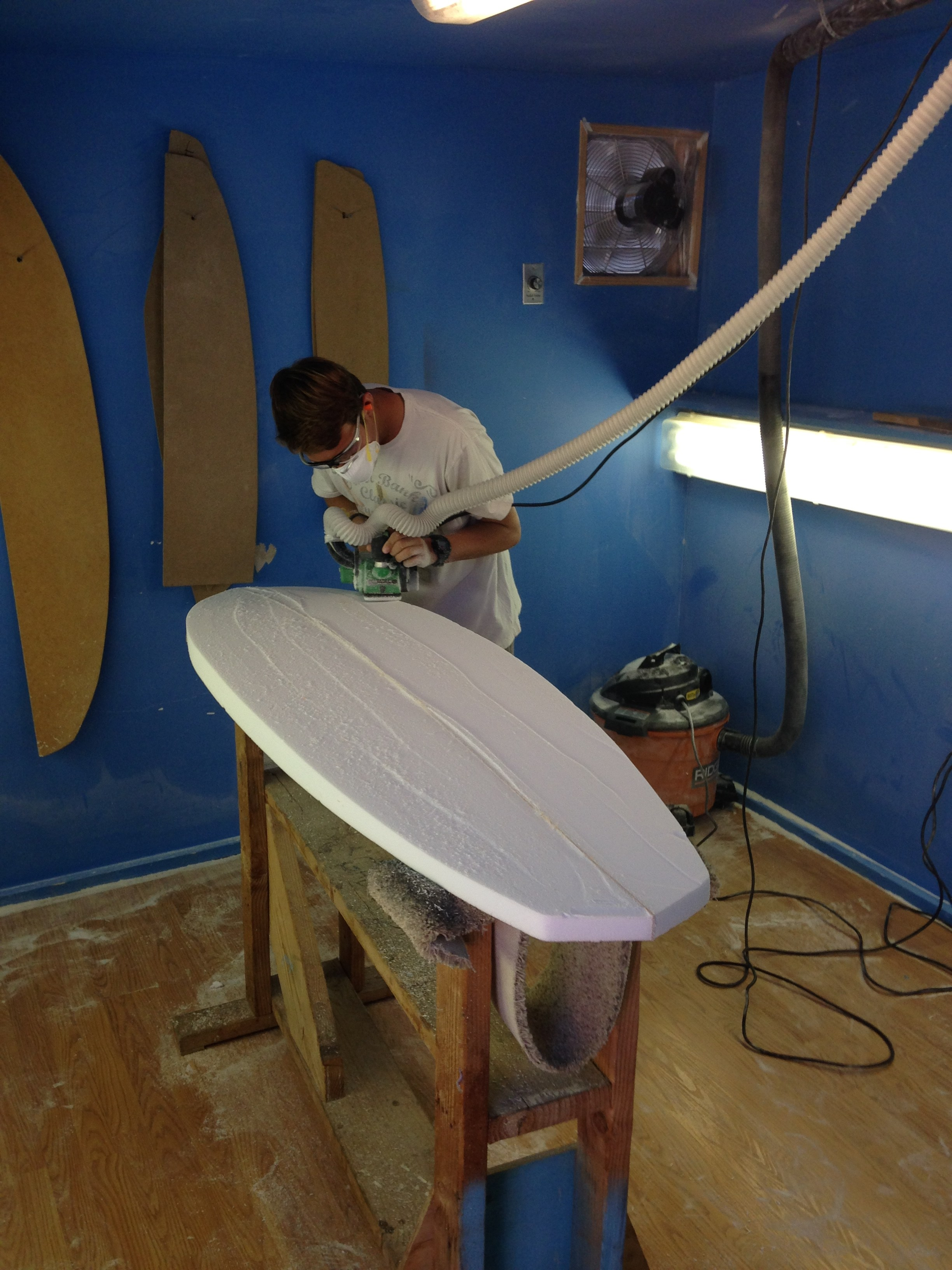 PVHS Surfboard shaping