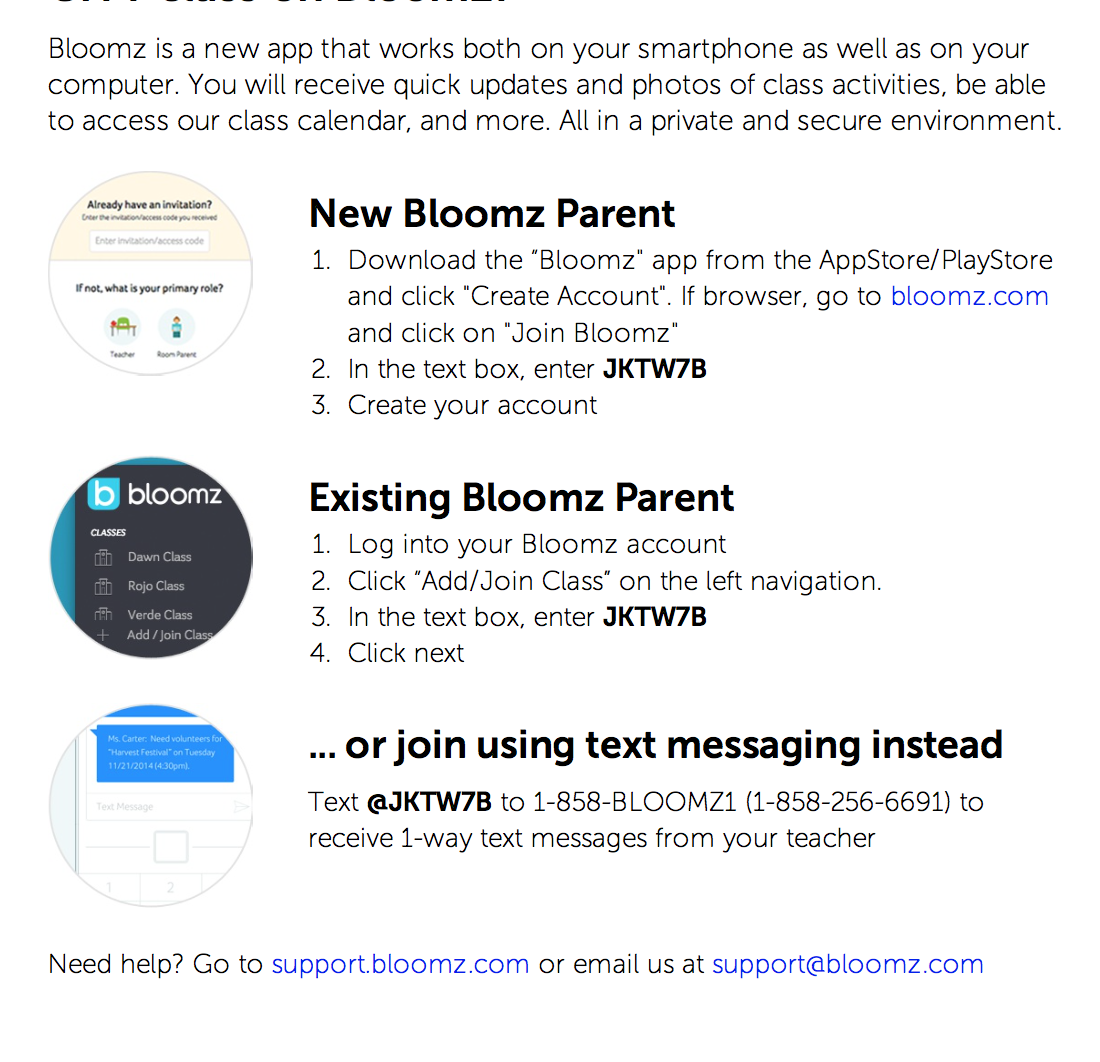 Instructions for joining Bloomz