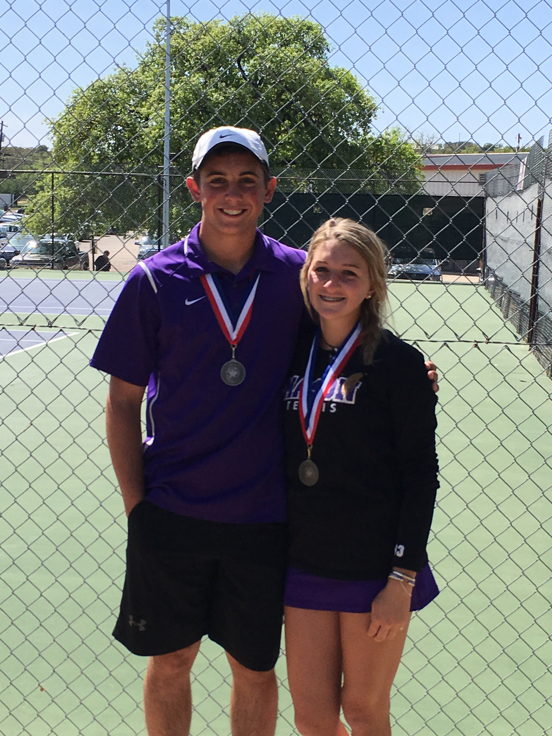 Rudy Rochat & Ella Canfield - Varsity Mixed Doubles 2nd Place