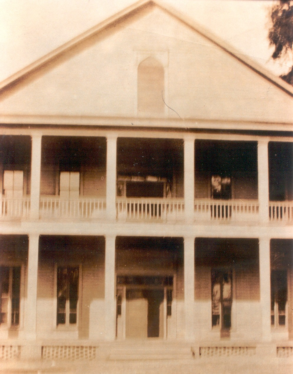 Porch on two story building