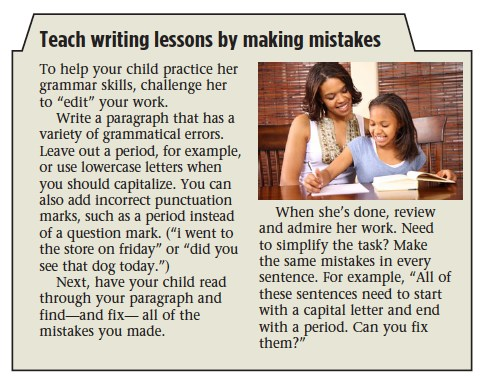 Teach Writing Lessons by Making Mistakes