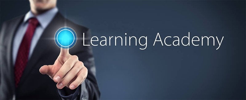 Learning Academy Logo with link to the class schedule