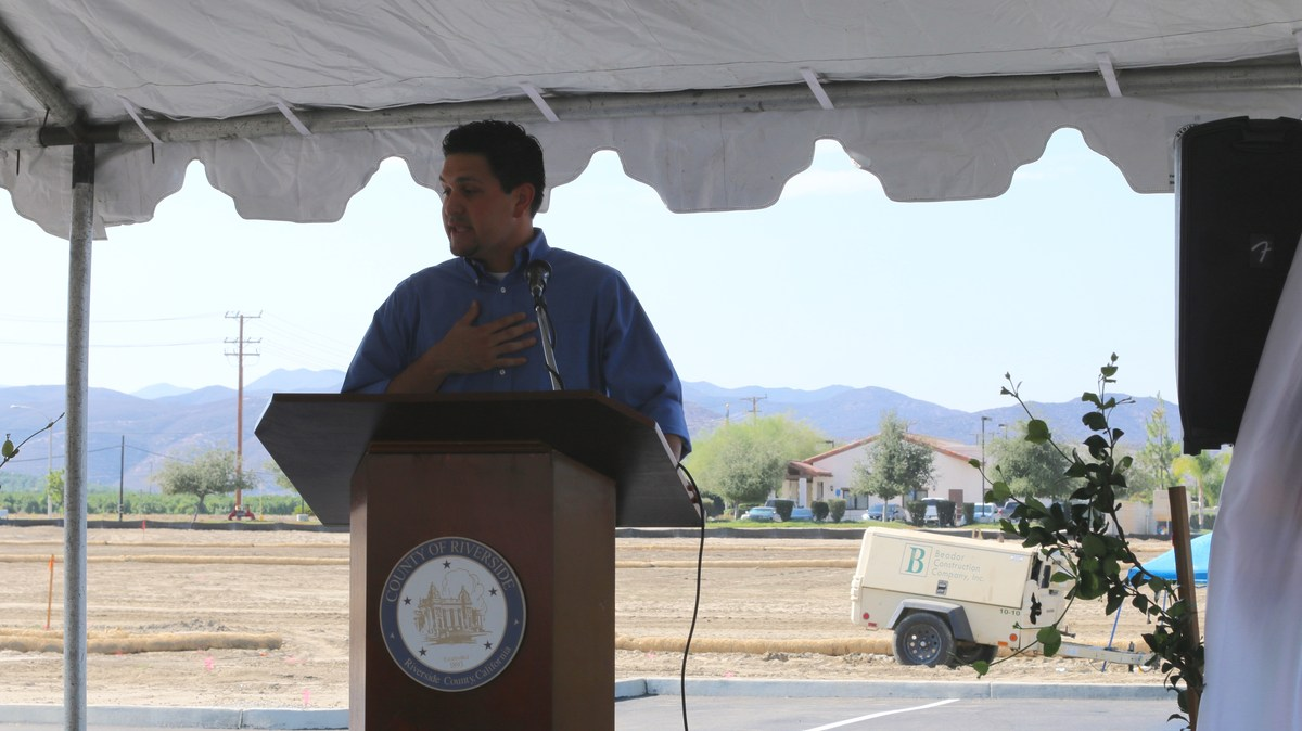 Dignitary speaking at Ribbon Cutting ceremony