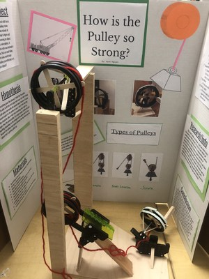 Student Science Fair project: How is the Pulley So Strong?