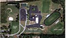 Submitted illustration This projection shows the parking lot and surrounding land near Brandywine Middle/High School. A projection of a few of the proposed improvements that could come to Brandywine are seen including the community center, new tennis courts, relocated baseball field and the parking lot exit and entrance area.
