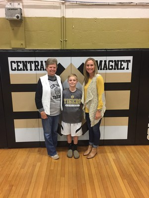 Kay Martin with her mom and son at Central