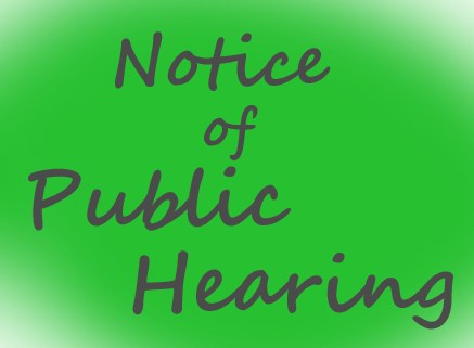 Notice of Public Hearing Thumbnail Image