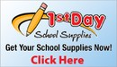 1st Day of School supplies order
