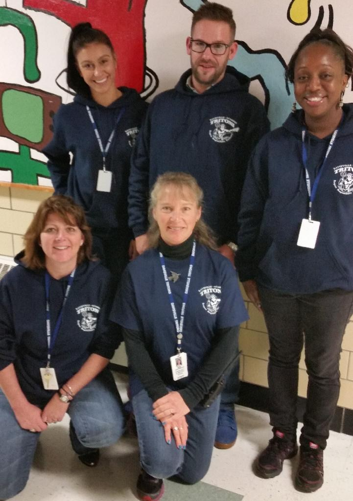 Staff pic with new DA sweatshirts