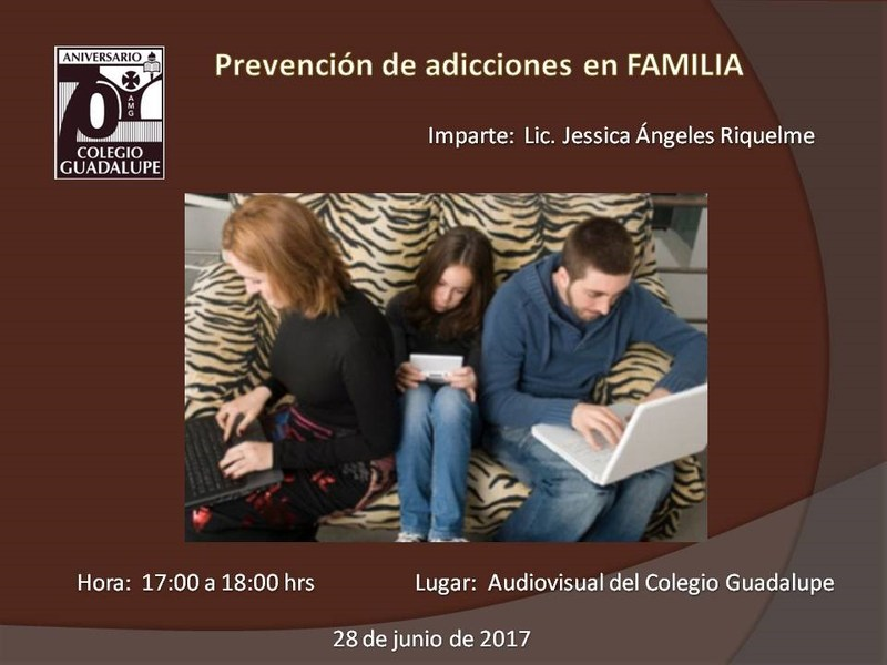 "Conferencia ""Prevención de adicciones en la Familia"", Featured Photo"
