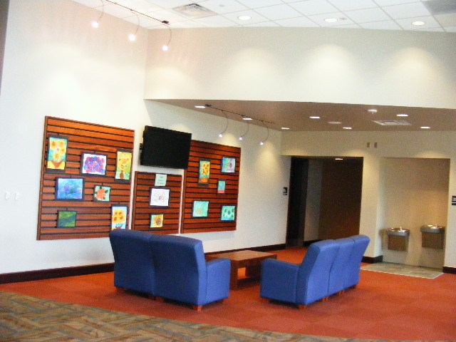 lounge in the fine arts center
