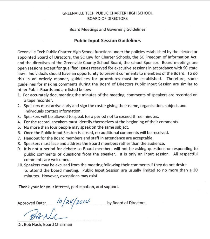 Board policies board of directors greenville technical charter board policies aljukfo Images