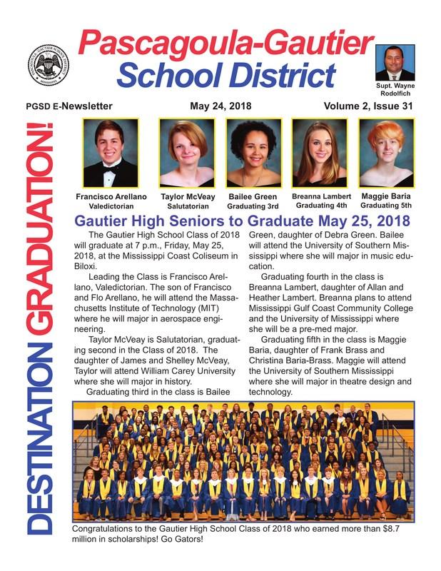 GHS Seniors to Graduate May 25, 2018