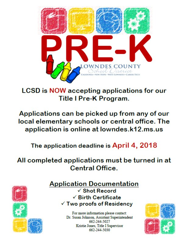 Now Accepting Pre-K Applications Featured Photo