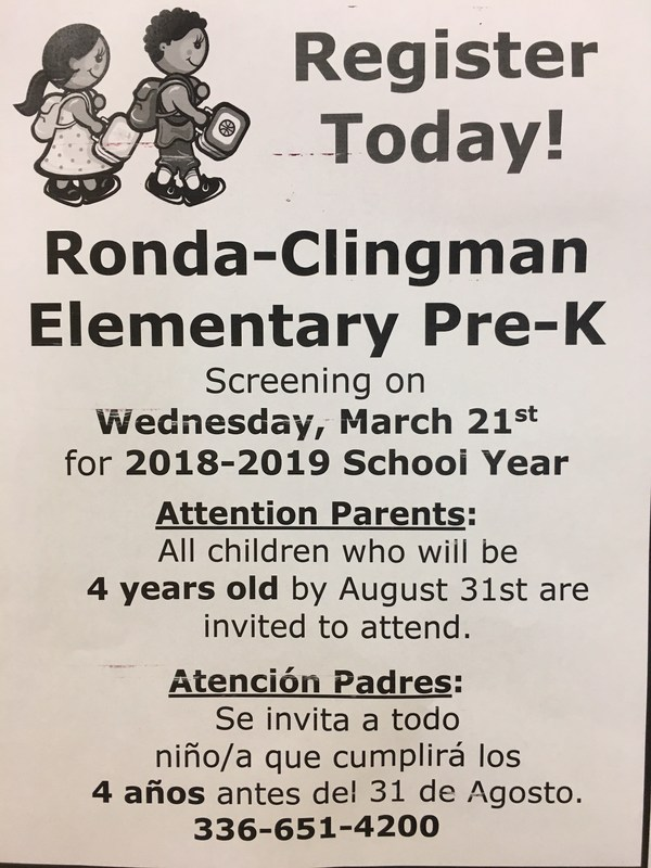 Attention Parents of Upcoming Pre-K Students! Thumbnail Image