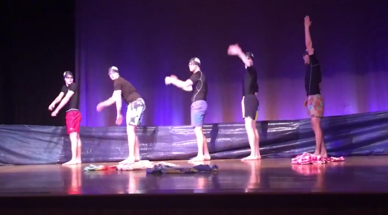 VIEW the   MR. GHS Swim Routine Video  - Priceless Thumbnail Image