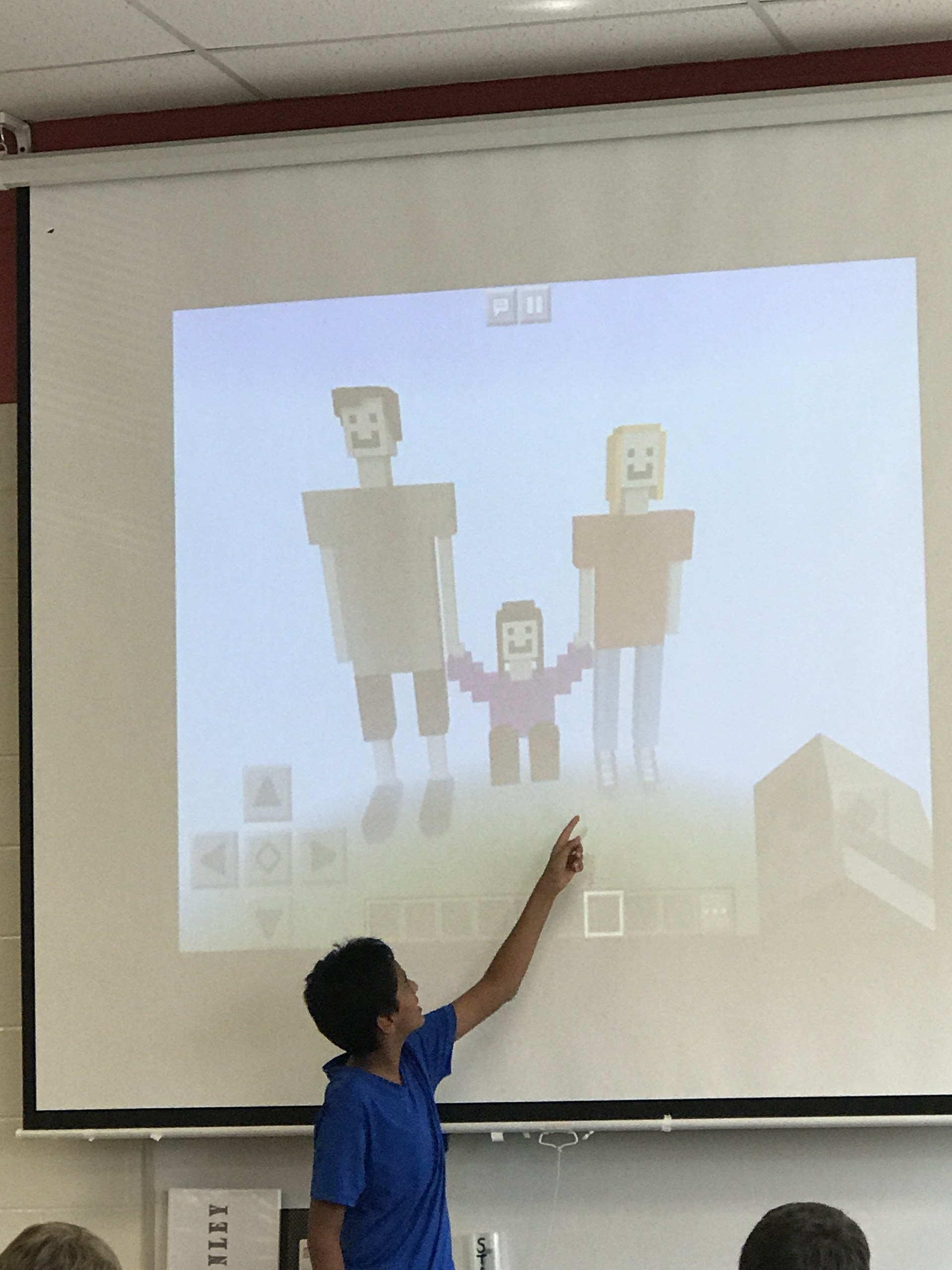 Nij did a great job creating Margot's family in Minecraft