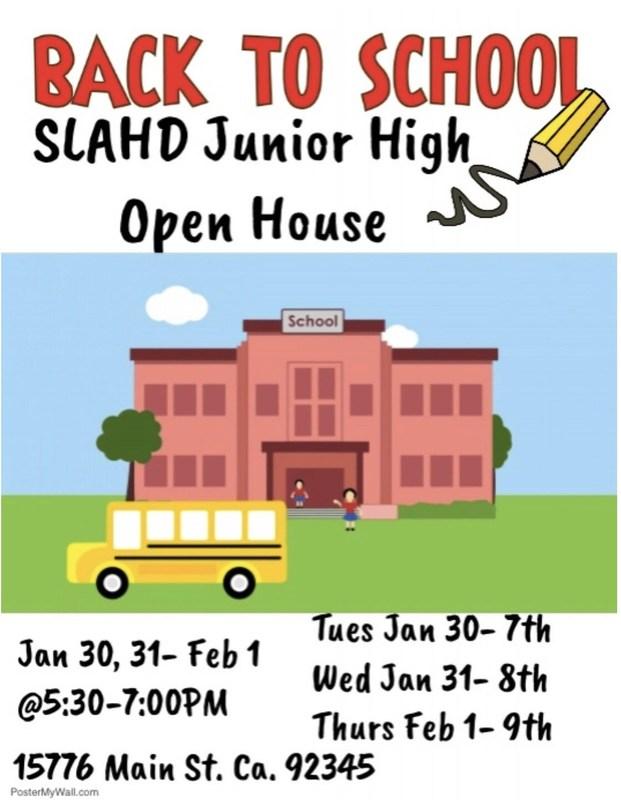 Junior High Open House Grades 7-9 Thumbnail Image