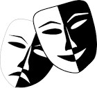 Theatre mask image to illustrate the drama information page