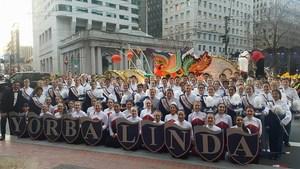 Band members during parade