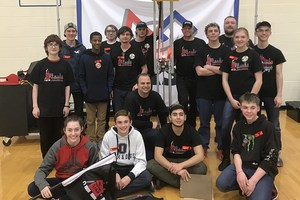 Team photo of the Alotobots robotics team