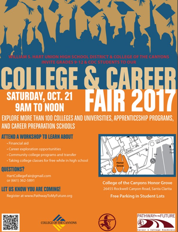 Hart District College & Career Fair flyer