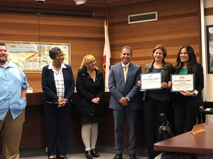 Ms. Duran and Ms. Loyola Award