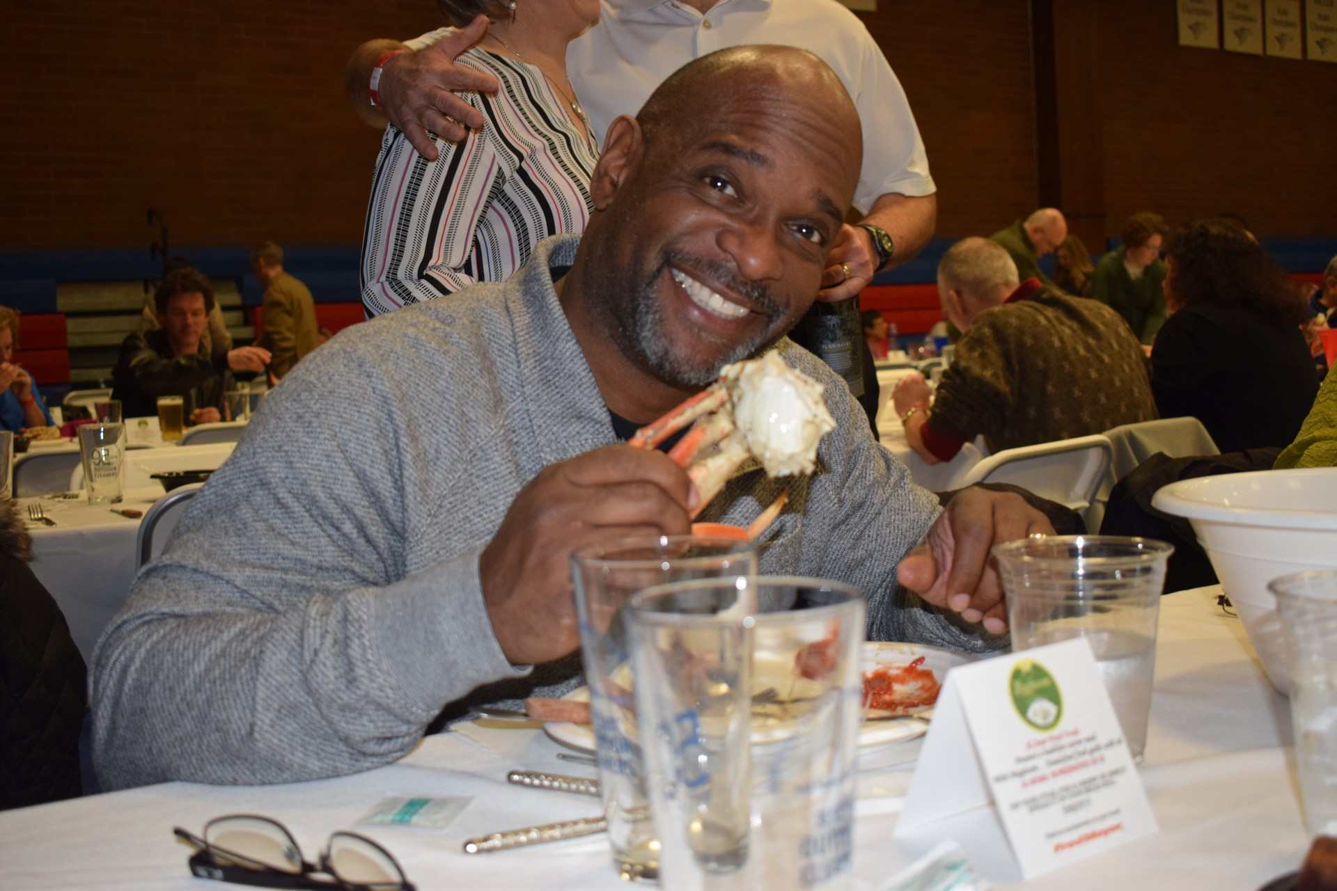 Man eating crab.