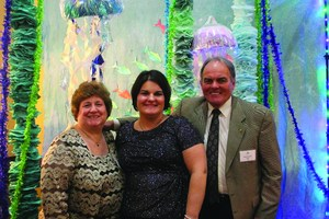 Bob Hilmer with his wife, Sandy, and daughter, Lisa Riccardi