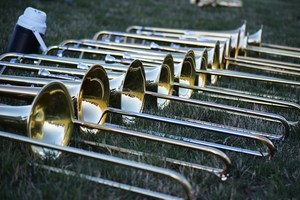 Band Instruments in the grass
