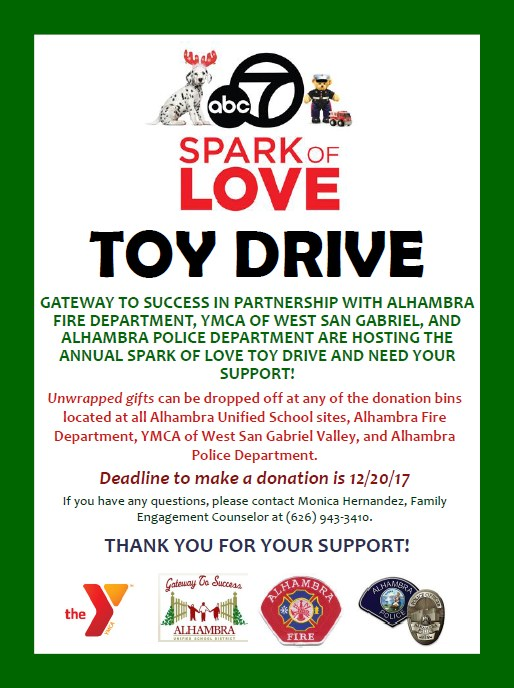 Spark of Love Toy Drive Thumbnail Image