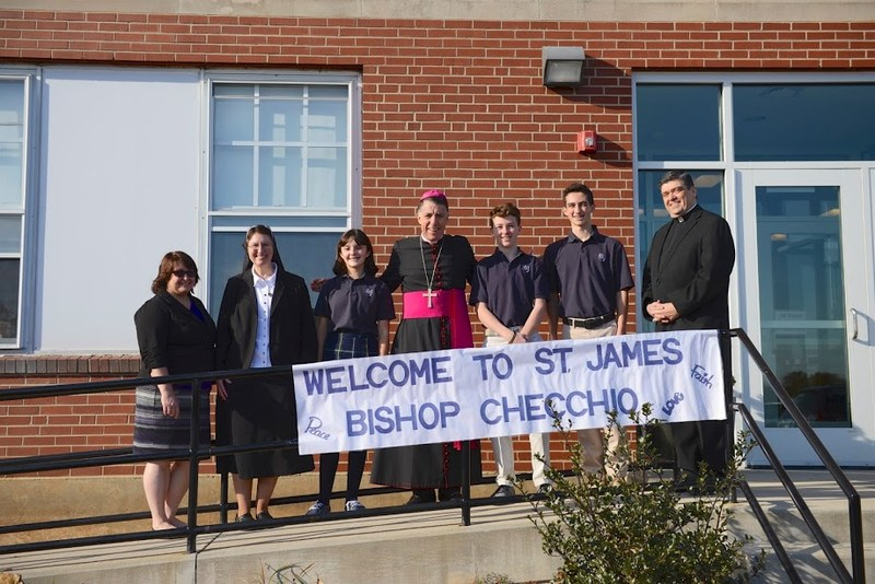 Saint James School welcomed the Most Reverend Bishop James F. Checchio Thumbnail Image