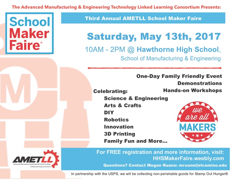 Third Annual AMETLL Maker Faire at Hawthorne High School Thumbnail Image