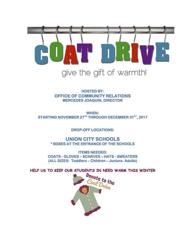 Winter Coat Drive Flyer