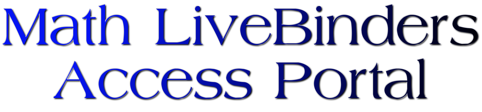 Math LiveBinders Access Portal