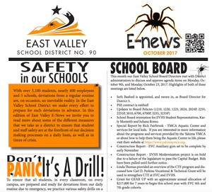 Picture of the top of our Enews for October.